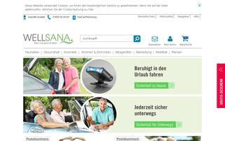 Wellsana Webseiten Screenshot