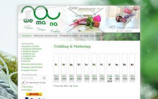 Wemana Webseiten Screenshot