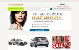 Werbescheibe Webseiten Screenshot