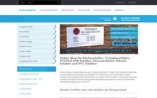 Werbeschilder24 Webseiten Screenshot
