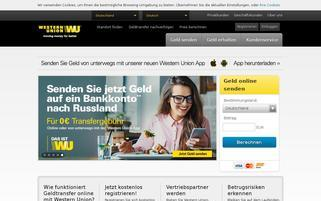 Western Union Webseiten Screenshot