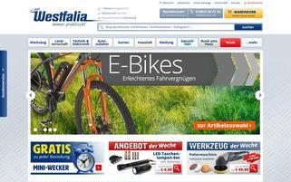 Westfalia-versand.at Webseiten Screenshot