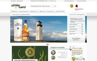 Whiskyworld Webseiten Screenshot