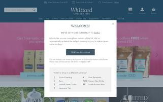Whittard Webseiten Screenshot