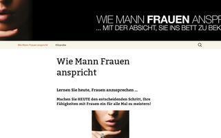 wie-mann-frauen-anspricht.com Webseiten Screenshot