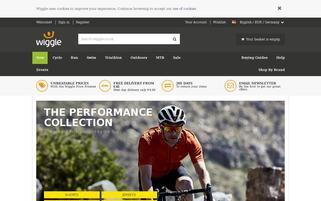 Wiggle Webseiten Screenshot