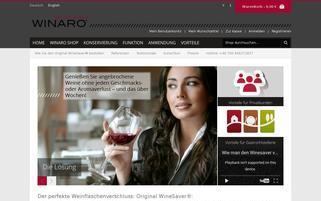 Winaro Webseiten Screenshot