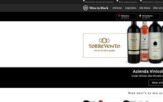 Wine in Black Webseiten Screenshot