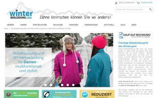 winterbekleidung.com Webseiten Screenshot