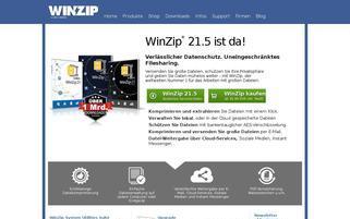 WinZip Webseiten Screenshot