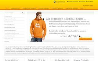 wir-bedrucken-mehr.de Webseiten Screenshot