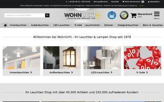 Wohnlicht Webseiten Screenshot
