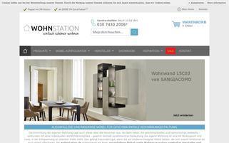 Wohnstation Webseiten Screenshot