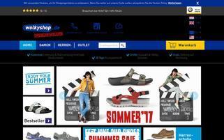 Wolkyshop Webseiten Screenshot