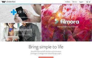 Wondershare Webseiten Screenshot