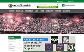 world-of-football.de Webseiten Screenshot