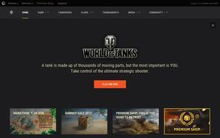 World of Tanks Webseiten Screenshot
