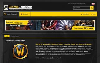 wow-looting.com Webseiten Screenshot