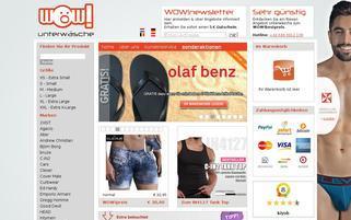 WOW Unterwäsche Webseiten Screenshot