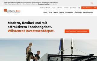 Wüstenrot Webseiten Screenshot