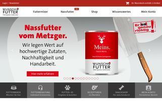 Wunschfutter Webseiten Screenshot