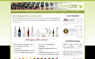 wunschlikör Webseiten Screenshot