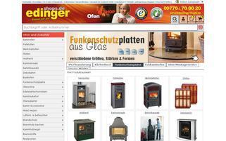 www.ofen.edingershops.de Webseiten Screenshot
