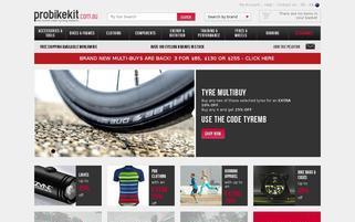 www.probikekit.com.au Webseiten Screenshot