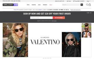 www.sunglasses-shop.co.uk Webseiten Screenshot