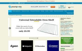 www.yourspares.co.uk Webseiten Screenshot