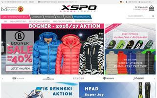 XSPO Webseiten Screenshot