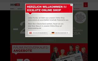 XXXLutz Webseiten Screenshot
