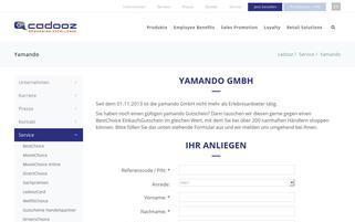 yamando.com Webseiten Screenshot