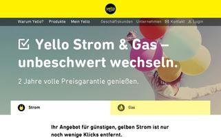 yello Webseiten Screenshot
