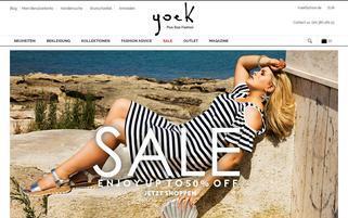 Yoek Fashion Webseiten Screenshot