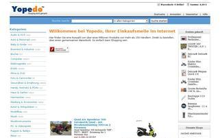 Yopedo Webseiten Screenshot