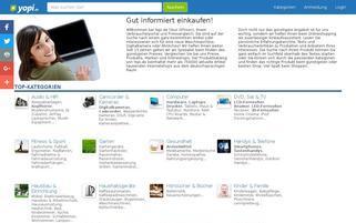 Yopi Webseiten Screenshot