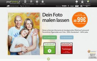 yourPainting Webseiten Screenshot