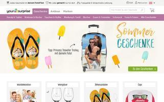 YourSurprise AT Webseiten Screenshot