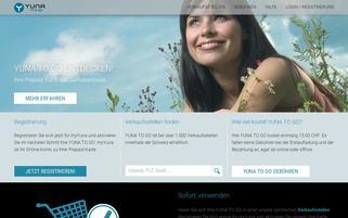Yuna Webseiten Screenshot