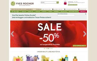 Yves Rocher.ch Webseiten Screenshot