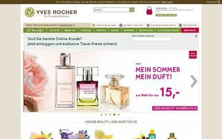 Yves Rocher Webseiten Screenshot