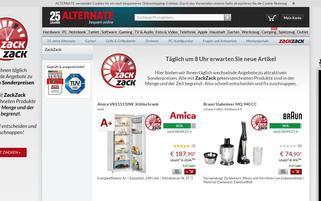 Zack Zack Webseiten Screenshot
