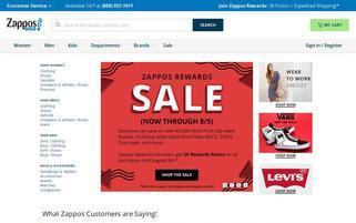 Zappos Webseiten Screenshot