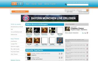 ZEEZEE Webseiten Screenshot