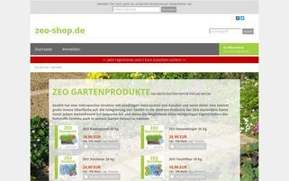 Zeo Streu Webseiten Screenshot
