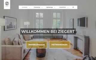 Ziegert Immobilien Webseiten Screenshot