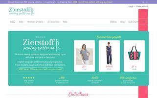zierstoff.com Webseiten Screenshot