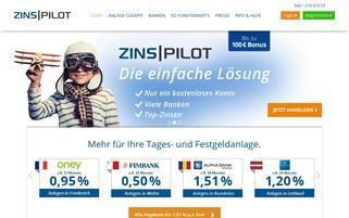 zinspilot.de Webseiten Screenshot
