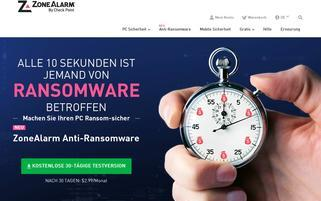 ZoneAlarm Webseiten Screenshot